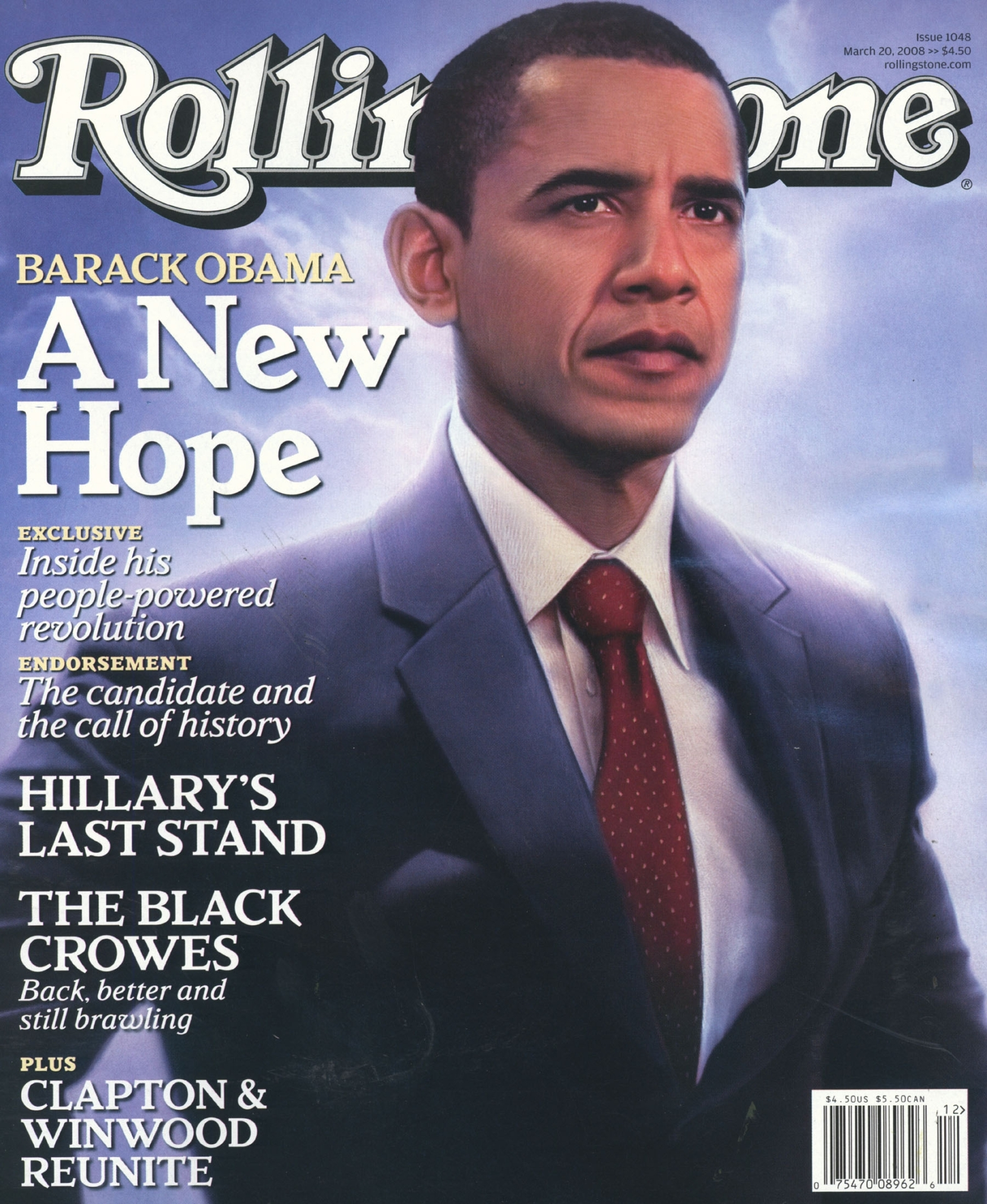 Rolling stone magazine front cover – barack obama march 08 issue
