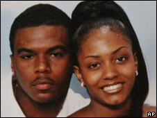 Murdered Sean Bell with his fiance Nicole