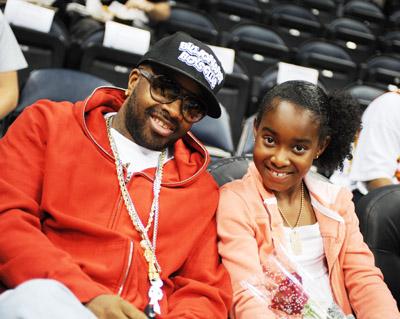 Producer/label executive Jermaine Dupri with daughter