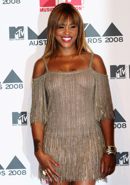 Eve poses backstage in the Awards Room at the MTV Australia Awards 2008