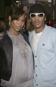 Javine Hylton and MC Harvey attend Fila celebration