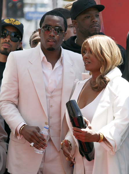 Diddy with mother Janice Combs