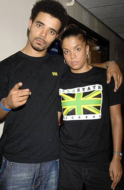 Akala with sister Ms Dynamite