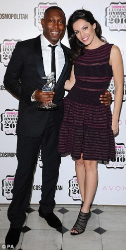 Dizzie Rascal with Kelly Brook at last night's event.