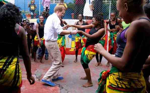 Harry dancing in Jamaica last year