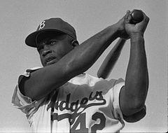 Baseball legend Jackie Robinson