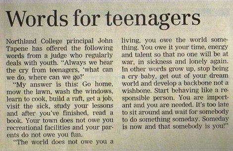 words for teens