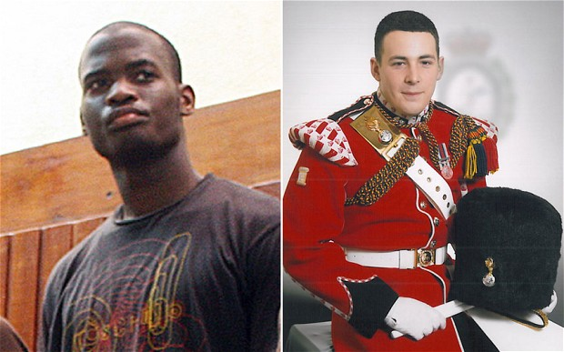 Suspect Michael Adebolajo and Drummer Lee Rigby