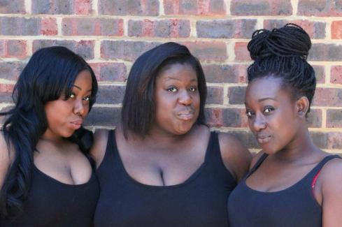 The creators behind Real Baby Mothers Of Brixton: The Chocolate Sisters (Donica Campbell, Shamara Roper and Aedenya Knight).