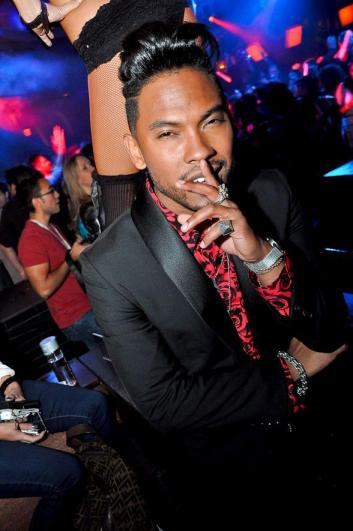 US singer Miguel... also a fan of the relaxer