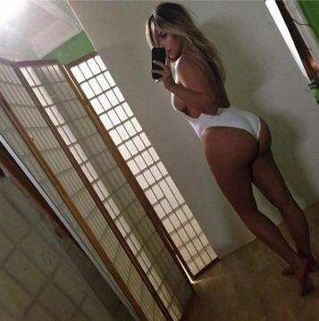 """Kanye's """"girl"""" instagrammed this photo of herself several weeks ago."""