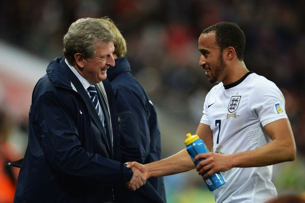 England Manager Roy Hodgson and Andros Townsend