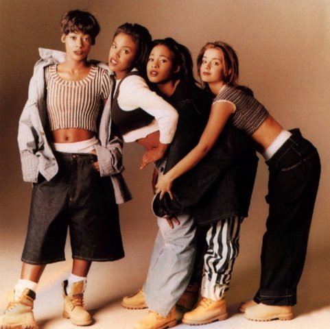 1990s girl group Eternal. L-R: Vernie Bennett, Easther Bennett, Kéllé Bryan and Louise Redknapp.