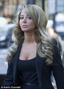 Tulisa rocks up to court dressed like puss.
