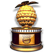 The Golden Raspberry Award statuette.