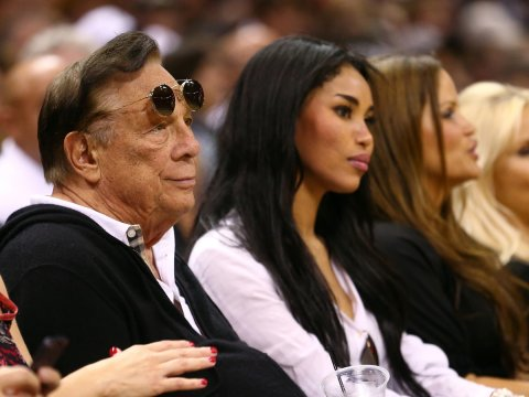 Donald Sterling with girlfriend V.