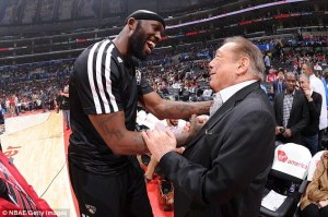 Donald Sterling with Reggie Evans of the Brooklyn Nets