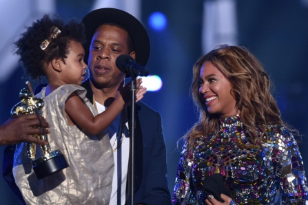 Blu Ivy with her parents at Sunday's VMAs