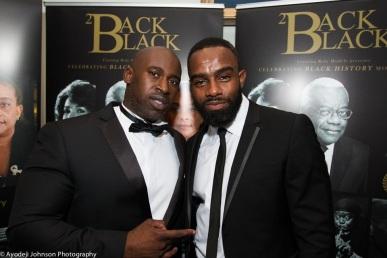 Back2Black Founder Fredi Kruga with actor Charles Venice. Courtesy of Ayodeji Johnson Photography
