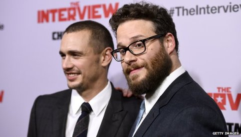 The Interview stars US actors James Franco (l) and Seth Rogen (r)