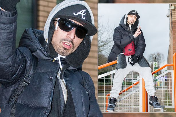 Photo credit: The Daily Mail - Adam Deacon posing outside Hammersmith Magistrates court