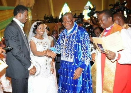 USELESS: President Goodluck Jonathan gives away his daughter