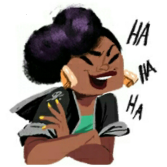 laughing blk girl