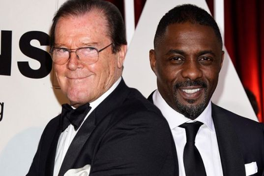 Roger Moore and Idris Elba