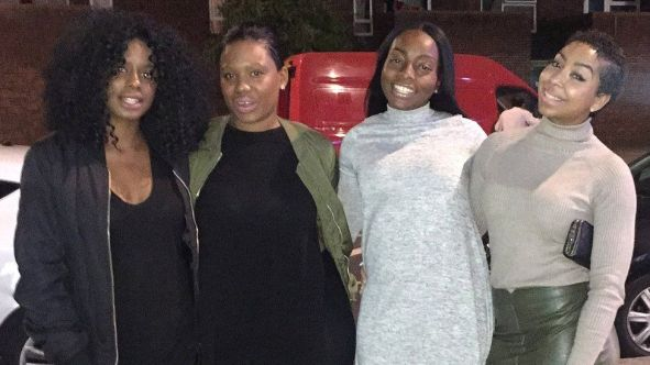 Zalika Miller (far left) pictured with her friends Reisha (centre left), Tasha (centre right) and Lin Mei (right)