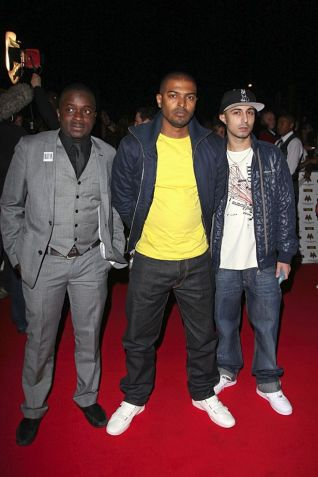(L-R) Femi Oyeniran, Noel Clarke and Adam Deacon during happier times,