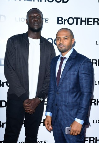 Noel Clarke with co-star Stormzy at the world premiere of Brotherhood (Ian West/PA)